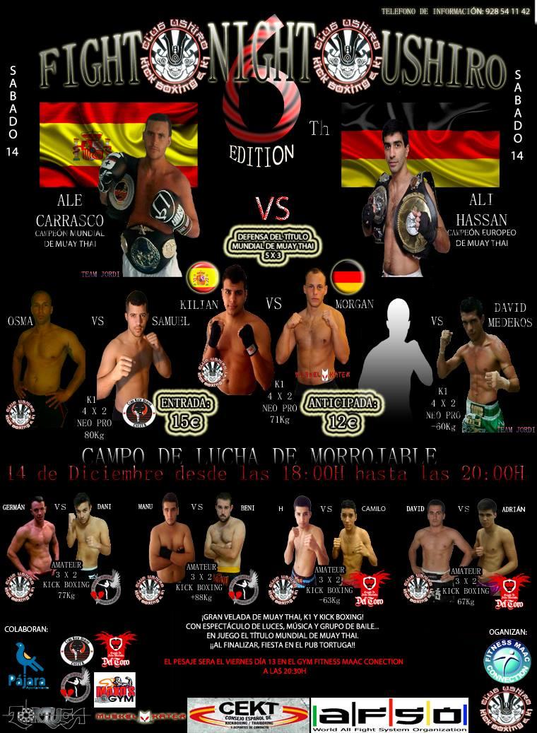 12 - Diciembre 14 FIGHT NIGHT USHIRO