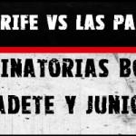 Resultados eliminatorias boxeo Tenerife vs Las Palmas, cadete y junior