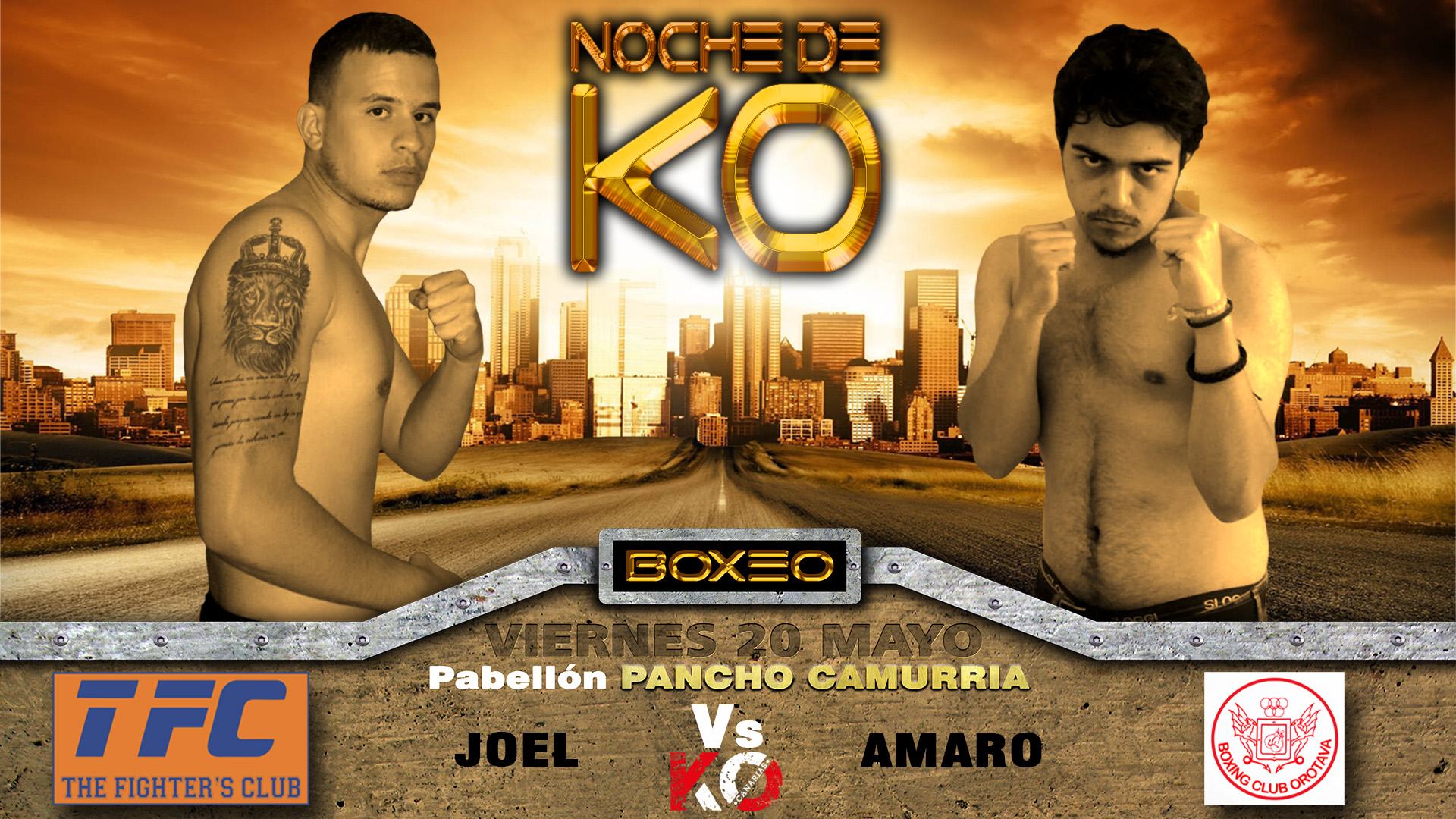 7- joel vs amaro, noche de KO