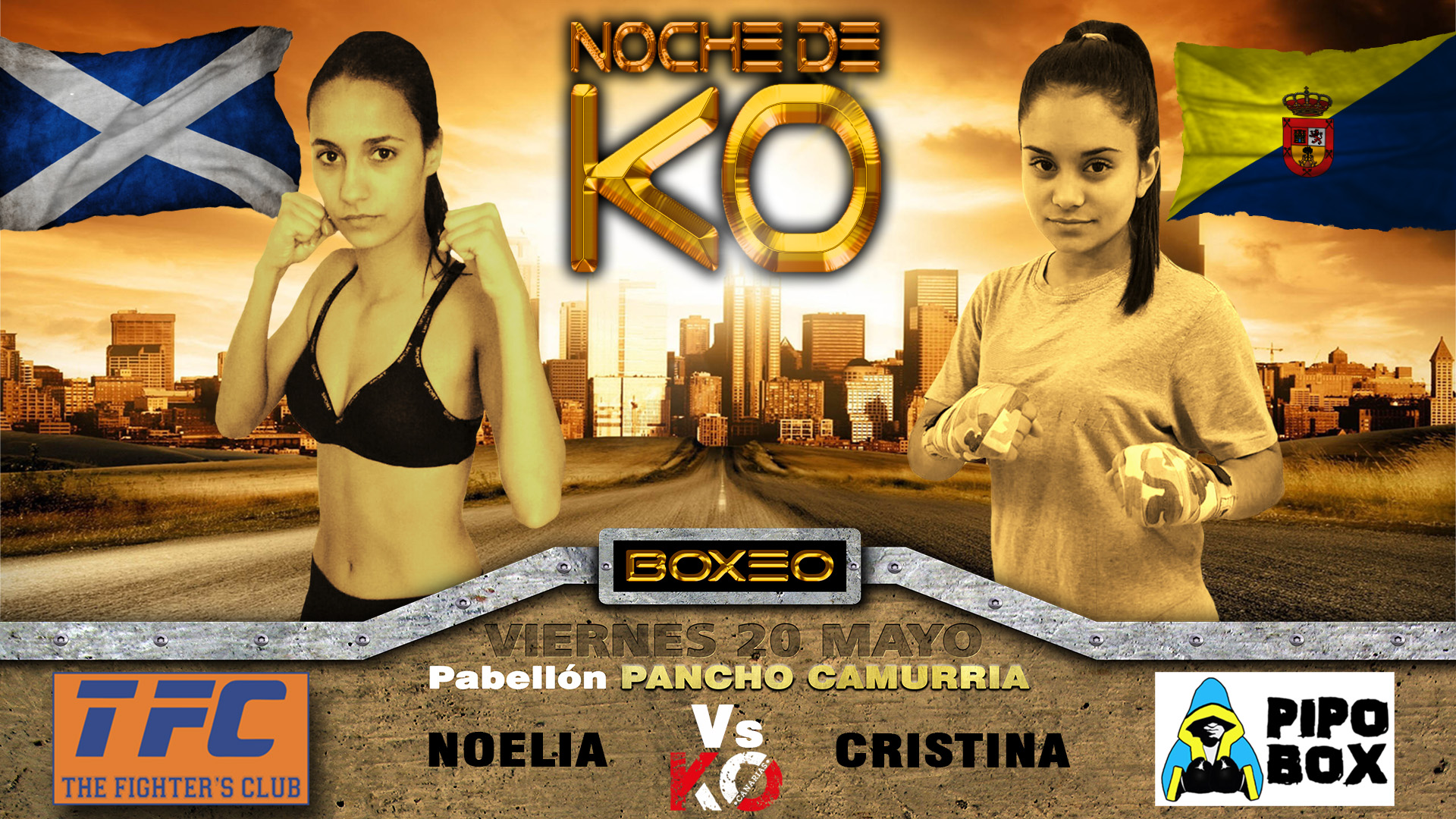9- noelia vs cristina, noche de KO