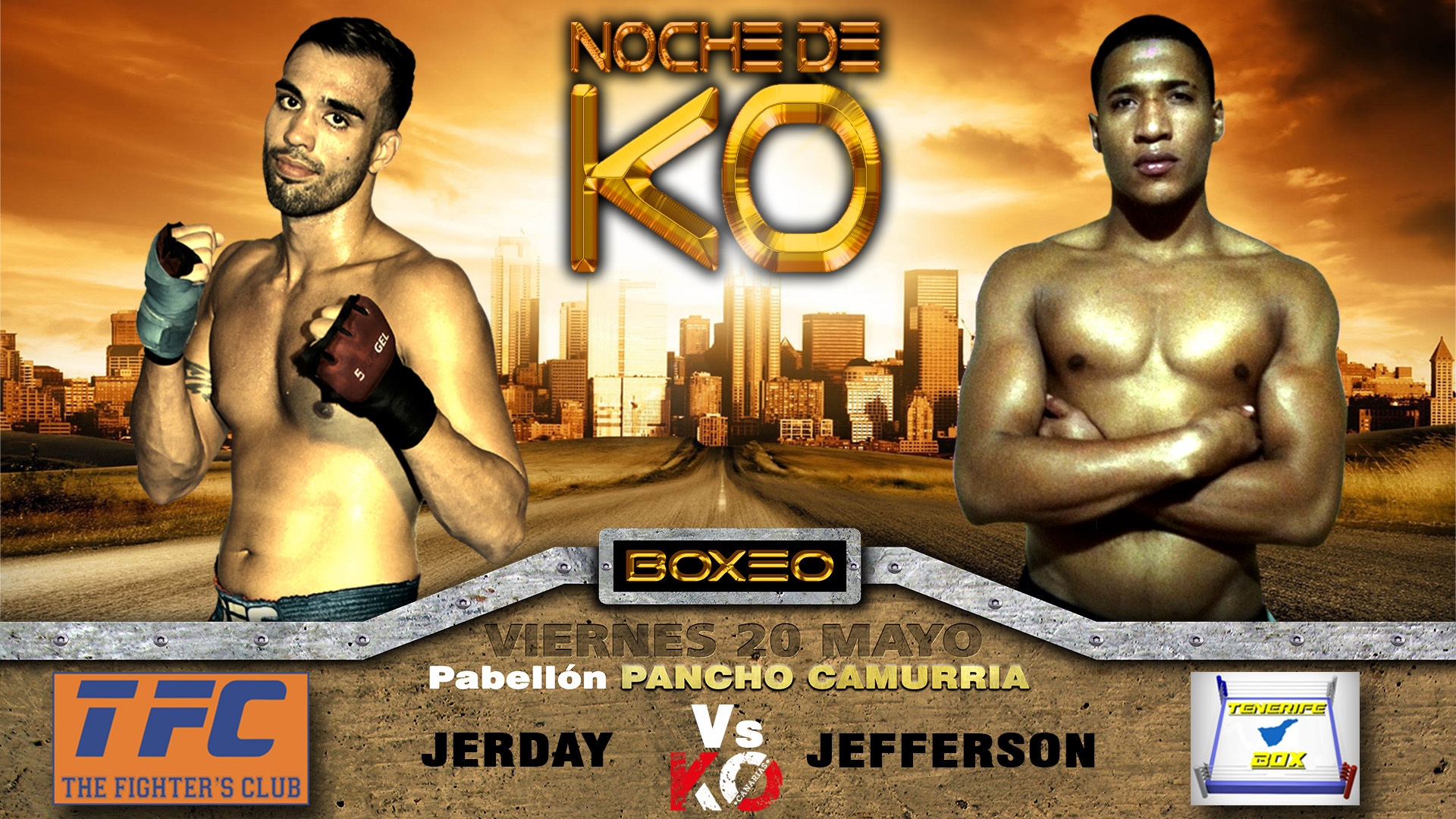 Jerday Vs Jefferson, noche de KO