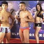 Maikel preparado para luchar en China, da el peso