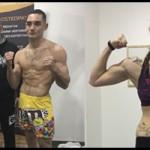 Maikel García y Patri dan el peso