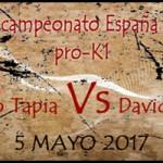 David García luchará por el campeonato España pro-K1
