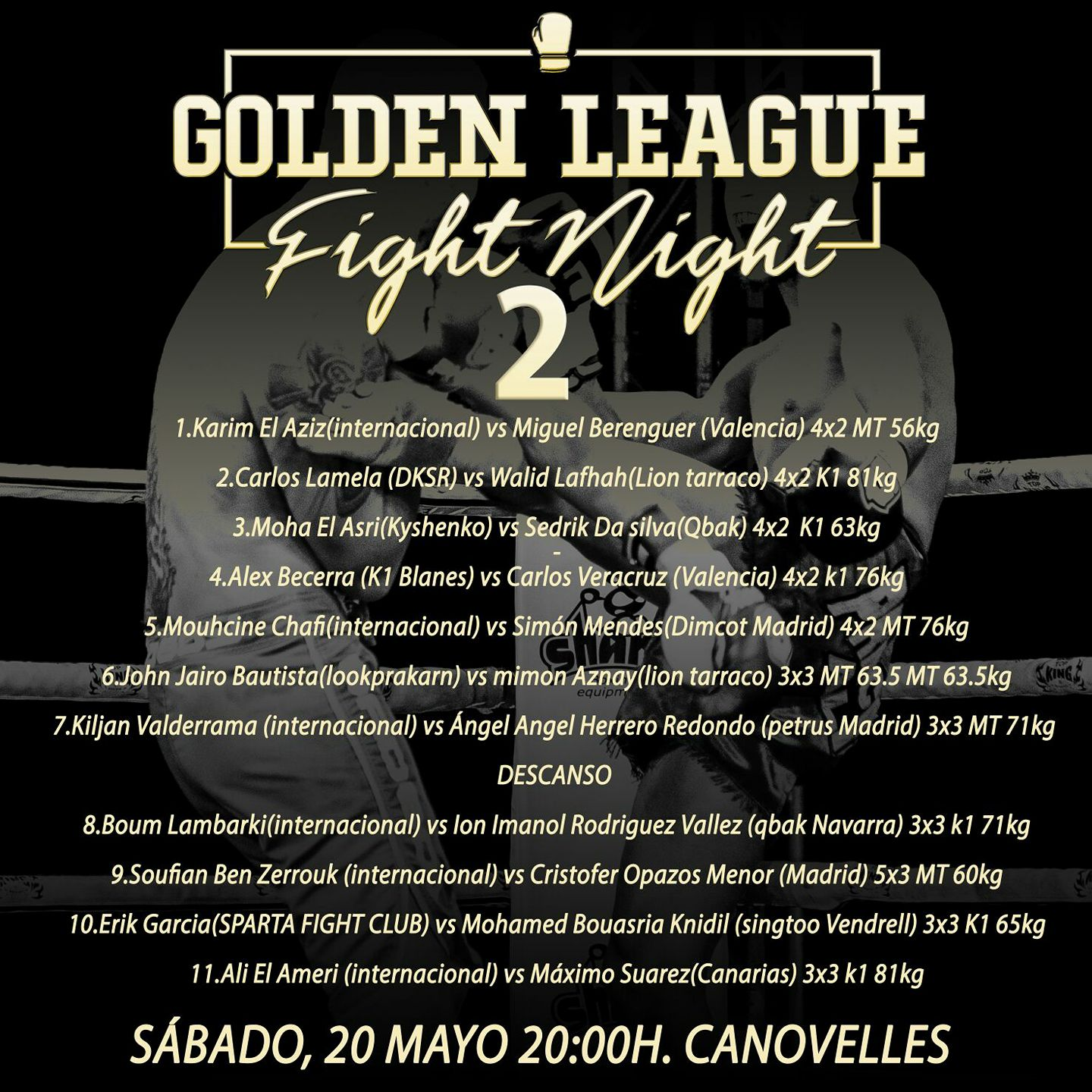 fight card golden league 2