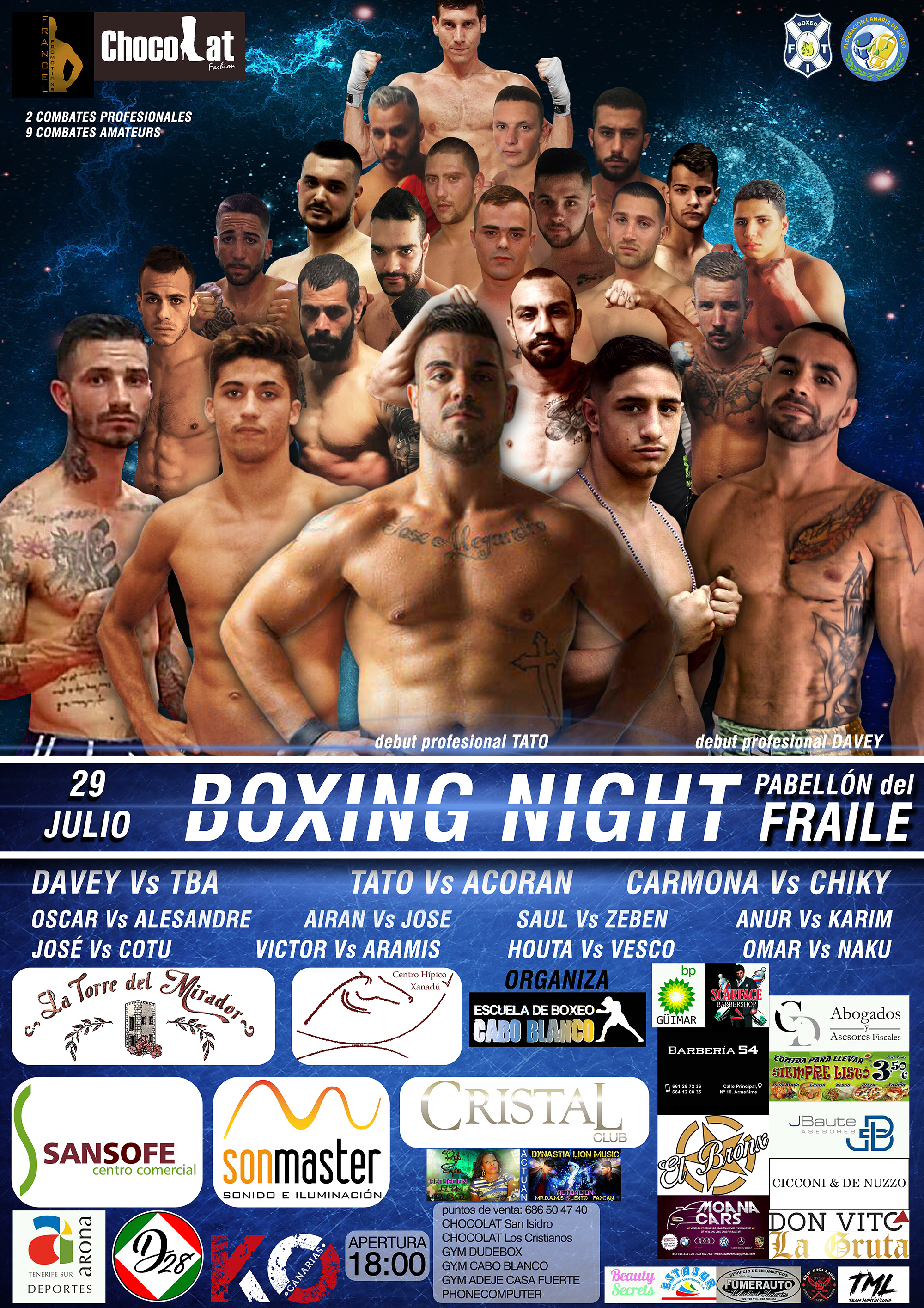 BOXING NIGHT CARTEL MOVIL