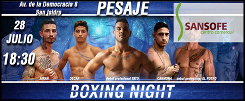 pesaje boxing night