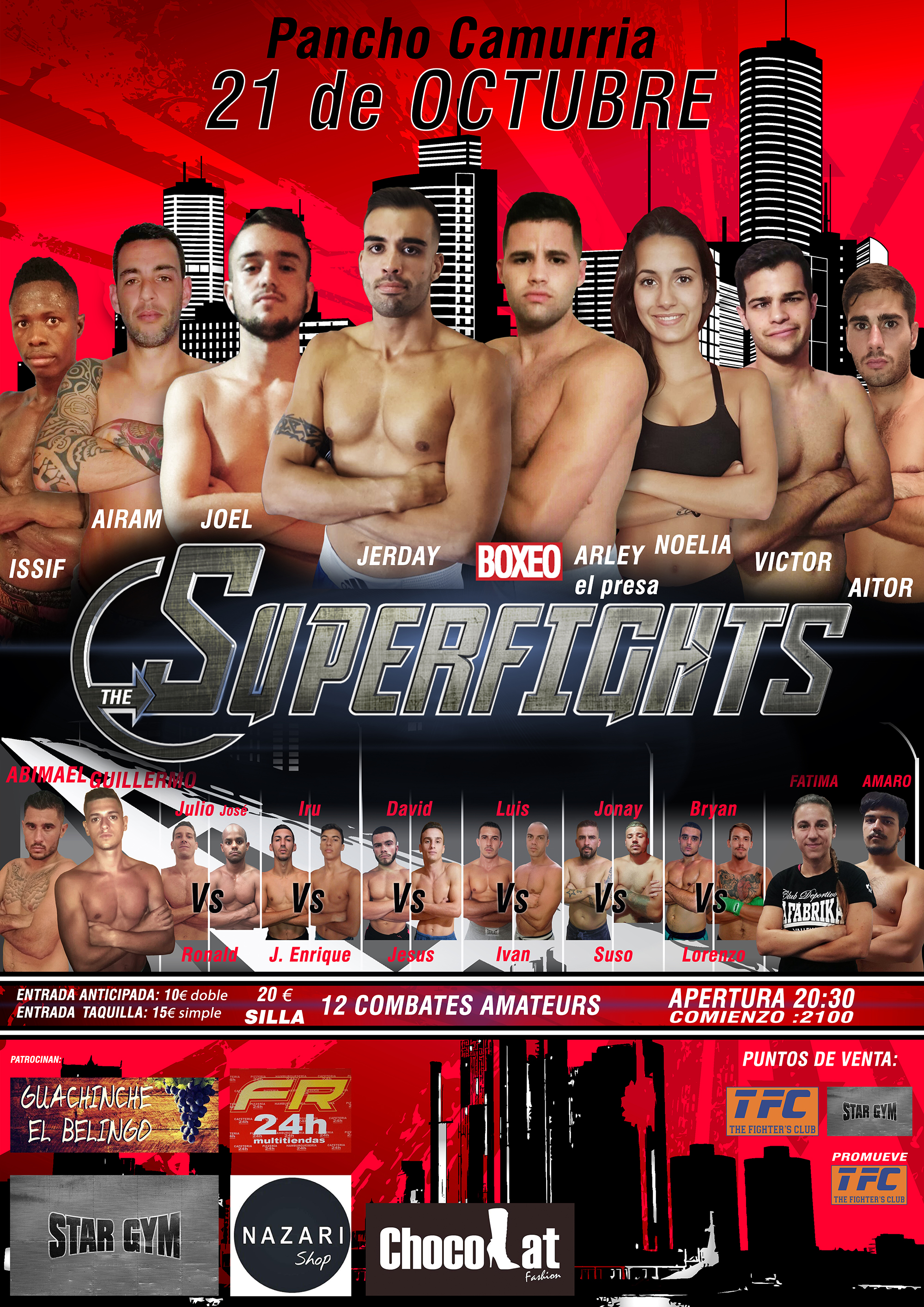 CARTEL SUPERFIGHT prueba movil