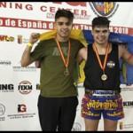 """Miguel García e Iván Febles """"Bombita"""" campeones de Muay Thai de España"""